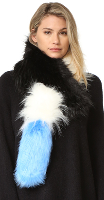 Charlotte Simone Popsicle Faux Fur Scarf $245 thestylecure.com