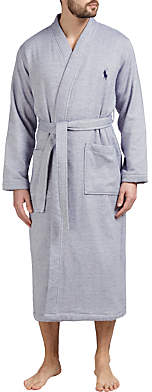 Ralph Lauren Polo Herringbone Cotton Robe, Navy