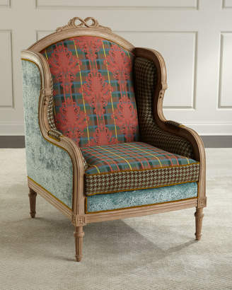 Mackenzie Childs Inverness Wing Chair