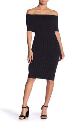 Wolford Striped Off-the-Shoulder Sheath Dress