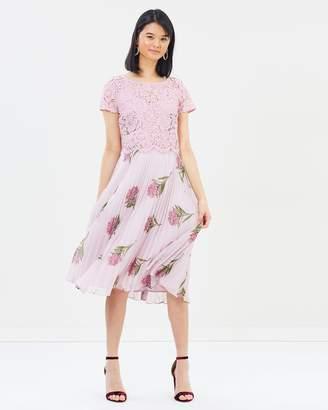 Oasis NHM Lace Midi Dress