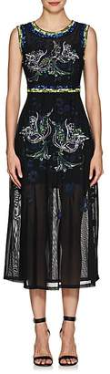 Cynthia Rowley WOMEN'S EMBELLISHED & EMBROIDERED FLORAL MESH DRESS
