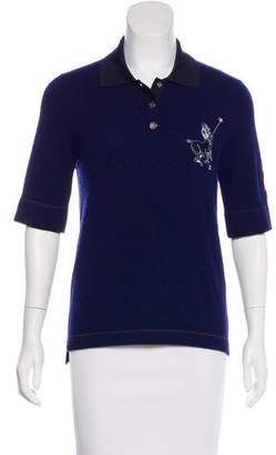 Chanel Cashmere Embroidered Top