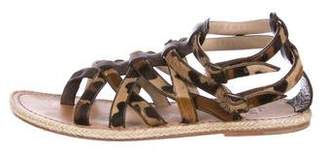 Christian Louboutin Pony Hair Espadrille Sandals
