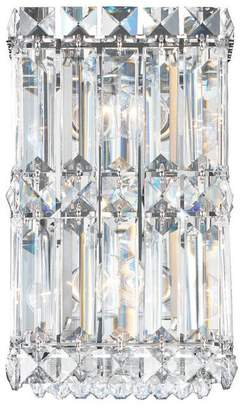 Schonbek Quantum 2-Light Wall Sconce in Stainless Steel With Clear Spectra Crystal