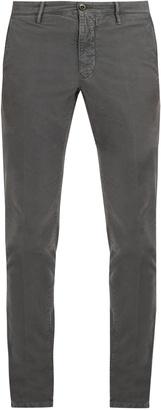 Slim-leg stretch-cotton chino trousers