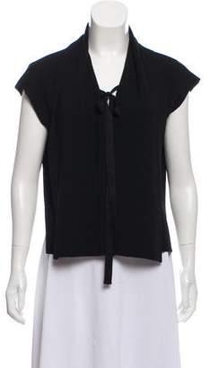 Marni Virgin Wool Cap Sleeve Cardigan