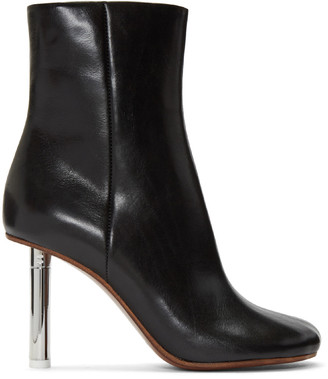 Vetements Black Leather Ankle Boots $1,945 thestylecure.com