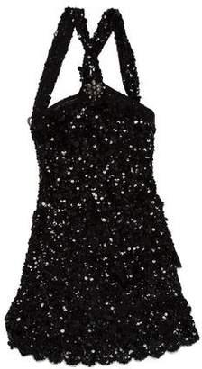 Blumarine Tiered Sequined Dress