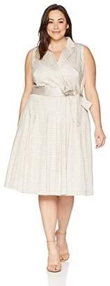 Anne Klein Women's Plus Size Notch Collar Wrap Dress