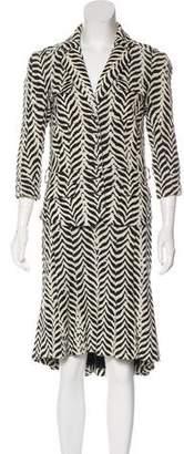 Diane von Furstenberg Animal Print Skirt Suit