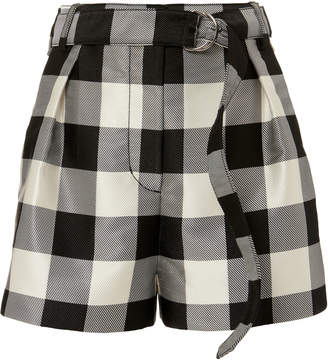 3.1 Phillip Lim Gingham Belted Military Shorts