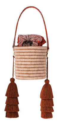 Maison Alma M'O Exclusive Hojarasca Naranja Bucket Bag