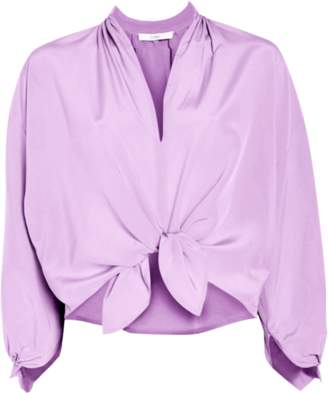 Tome Knotted Peasant Blouse