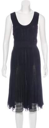 Chanel Crochet-Accented Midi Dress