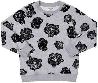 Kenzo Tigers Flocked Cotton Sweatshirt