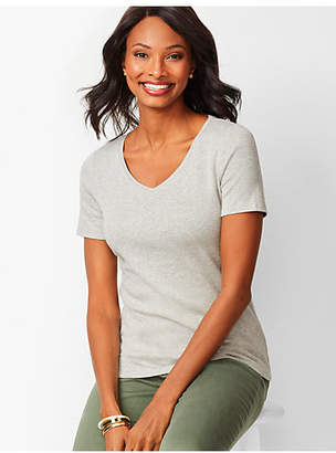 Talbots Heathered V-Neck Tee