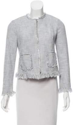 Rebecca Taylor Tweed Fringe-Trimmed Jacket