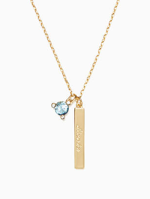 Kate Spade Born to be march pendant