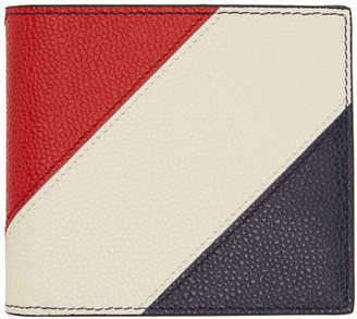 Thom Browne Navy Striped Bill Fold Wallet