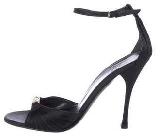 Gucci Satin Embellished Sandals