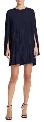 Elizabeth and James Violetta Pleated Bell-Sleeve Mini Dress