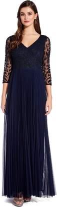 Adrianna Papell Midnight Beaded Maxi Dress