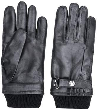 Paul Smith ribbed knit detail gloves