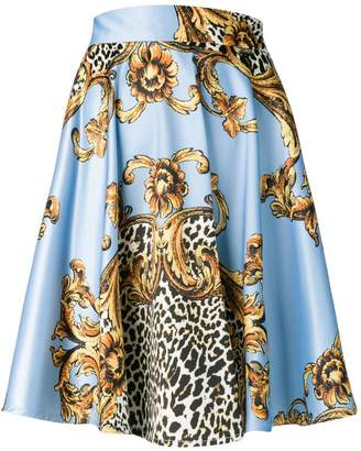 Liu Jo baroque leopard print mini skirt
