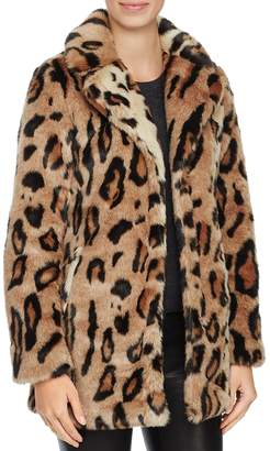 Louise Paris Leopard Print Faux Fur Coat - 100% Exclusive