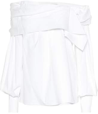 Carolina Herrera Off-the-shoulder cotton blouse