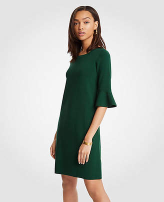 Ann Taylor Petite Fluted Sleeve Sweater Dress