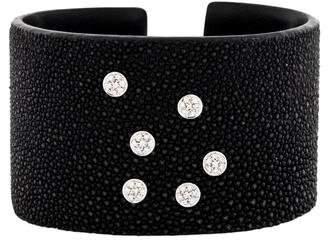 18K Diamond Stingray Leather Cuff