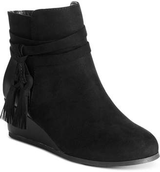 Sugar Little & Big Girls Molasses Wedge Bootie