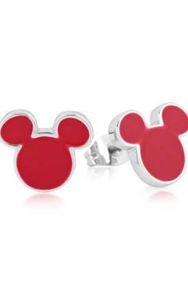 Disney Mickey Mouse Anniversary Red Enamel Stud Earrings Dse385