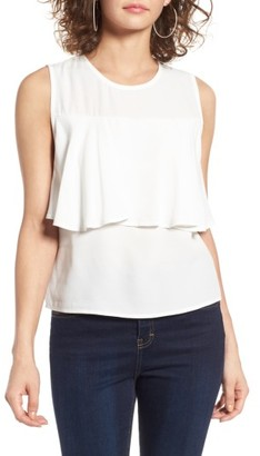 Women's Leith Flounce Sleeveless Top $45 thestylecure.com