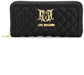 Love Moschino quilted zip-around wallet