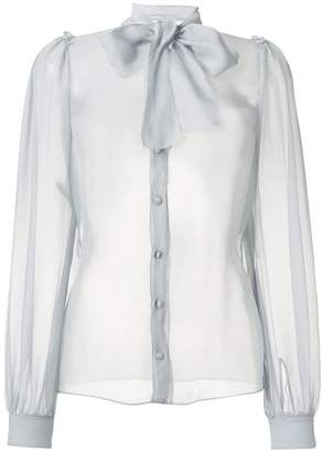 Dolce & Gabbana pussy bow sheer blouse