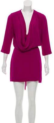 Diane von Furstenberg Silk Draped Dress
