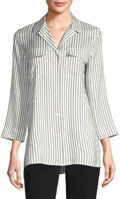 Lafayette 148 New York Fran Striped Silk Blouse
