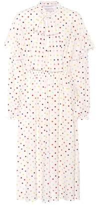 Valentino Polka-dot stretch-silk dress