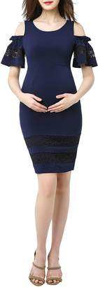 Kimi and Kai Marissa Cold Shoulder Maternity Sheath Dress