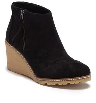 Toms Avery Microfiber Wedge Bootie (Women)