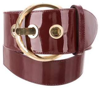 Suzi Roher Patent Leather Waist Belt w/ Tags