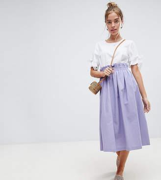 Asos Tailored Linen Prom Skirt