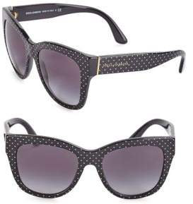 Dolce & Gabbana 55MM Square Floral Acetate Sunglasses