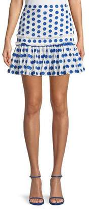 Alexis Harley Dot Applique Mini Skirt