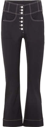 Ulla Johnson Ellis Cropped High-rise Flared Jeans - Black