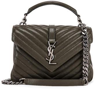 Saint Laurent Medium Monogramme College Bag in Dark Tea | FWRD