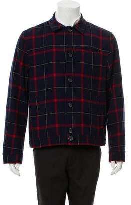 Oliver Spencer Plaid Button-Up Jacket